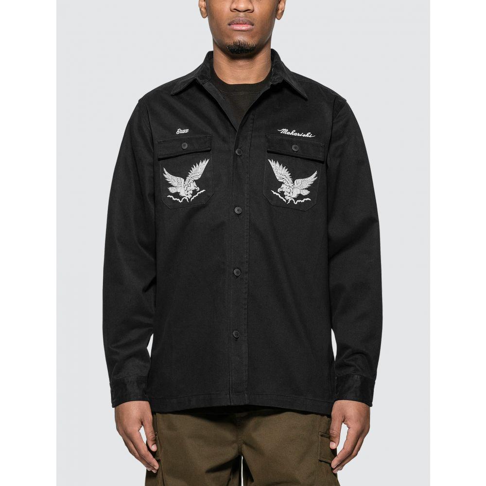 マハリシ Maharishi メンズ シャツ トップス【Drone Eagle Organic Tour Shirt】Black