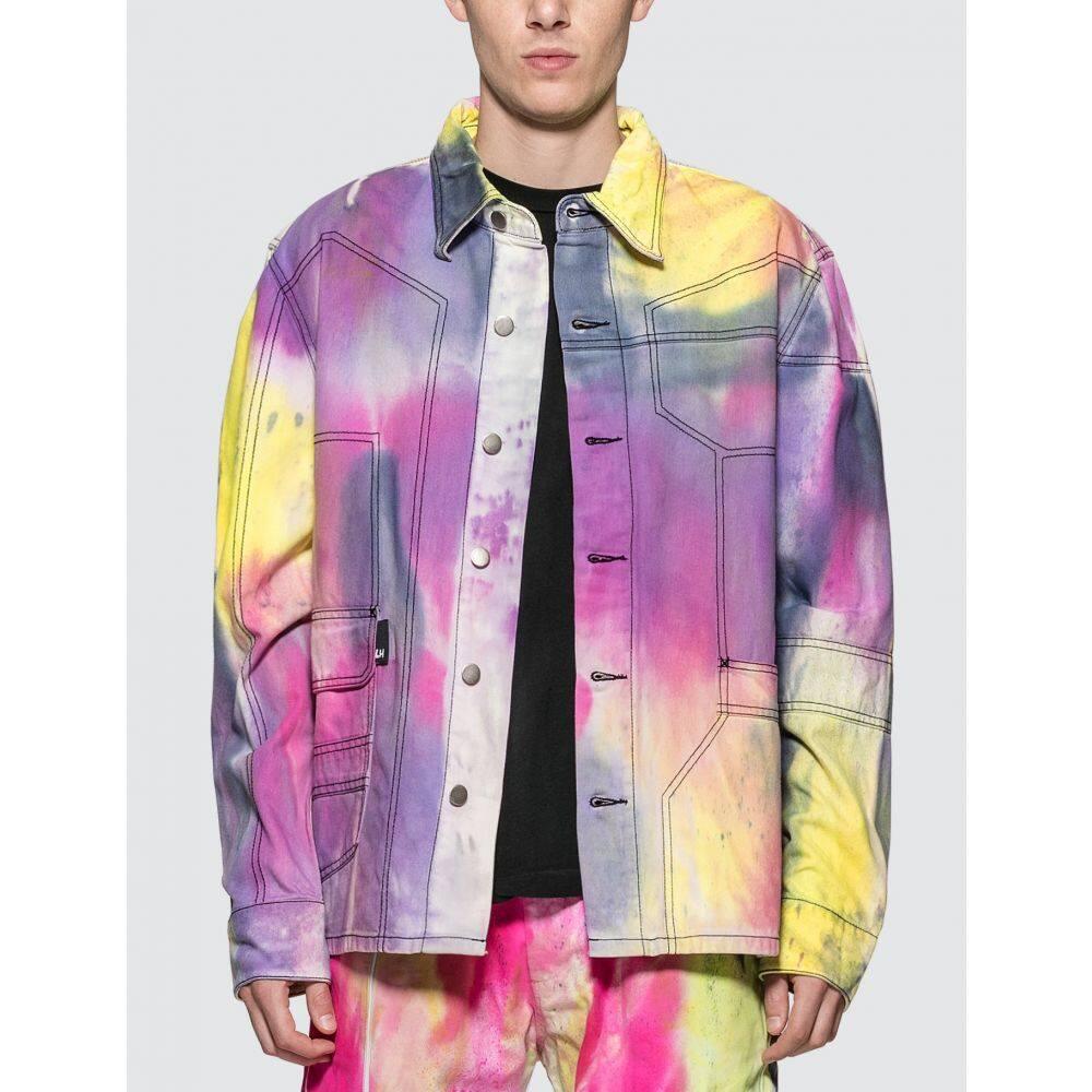 リアムホッジ Liam Hodges メンズ シャツ デニム トップス【Spray Dyed Denim Shirt】Multicolor