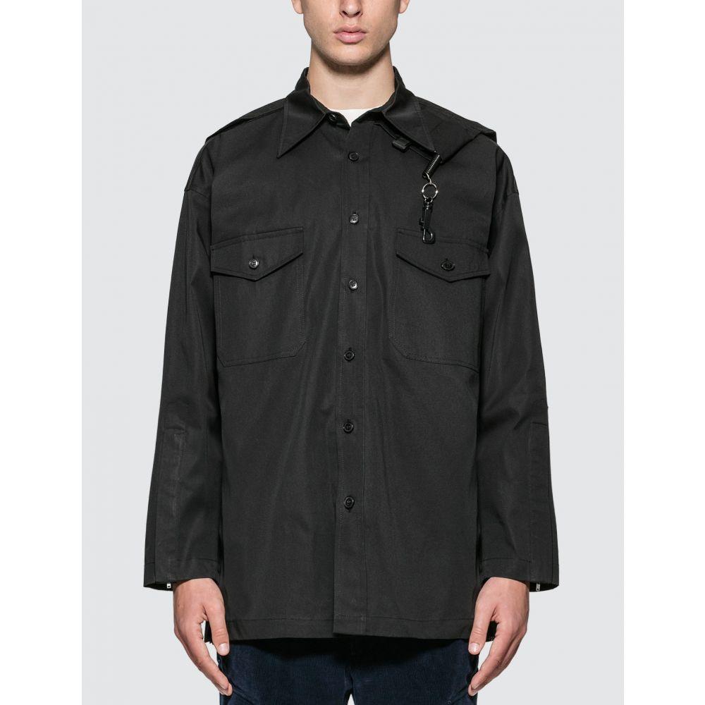 サンクアンズ Sankuanz メンズ シャツ トップス【Chest Pocket Shirt】Black