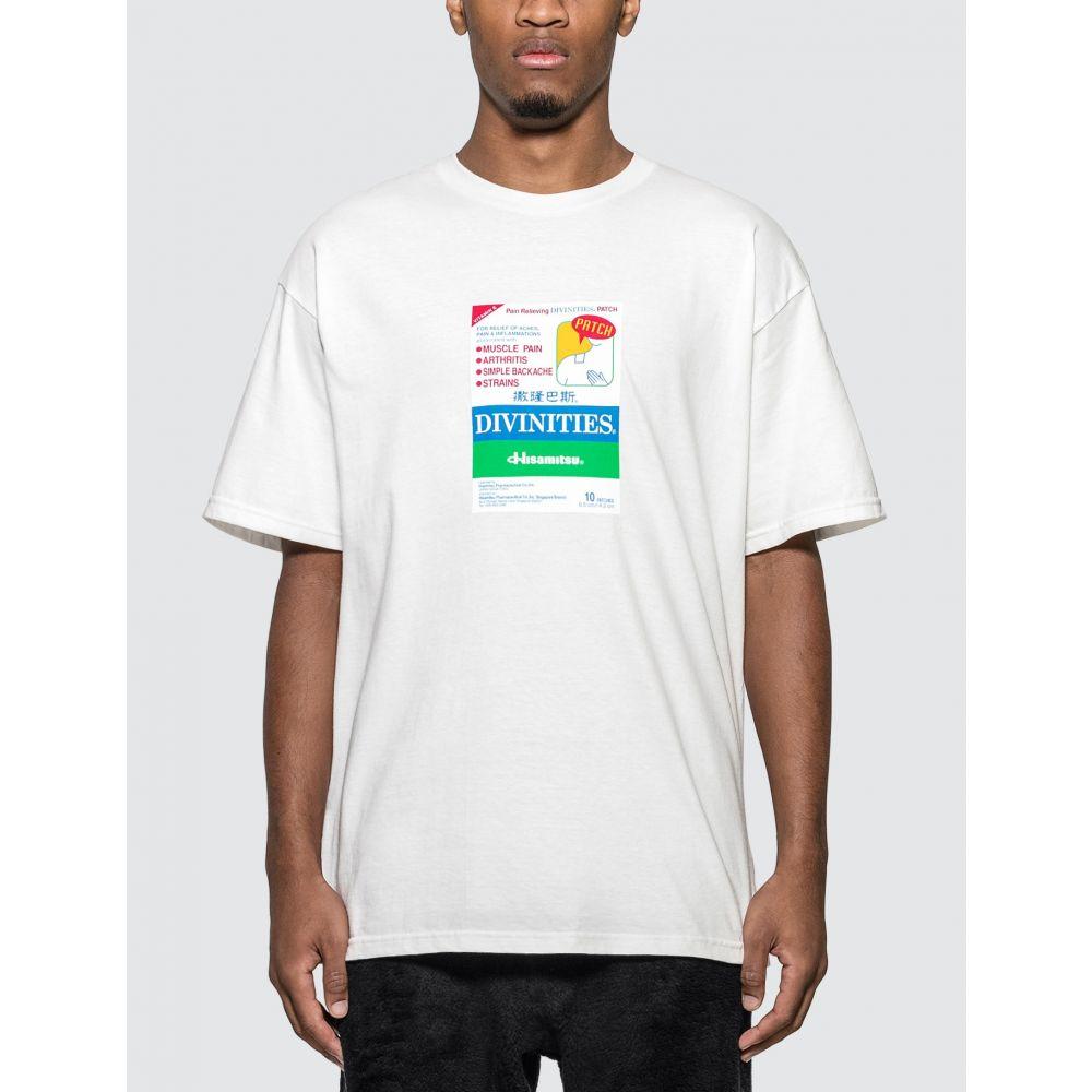 ディヴィニティーズ Divinities メンズ Tシャツ トップス【Pain Relief T-shirt】White