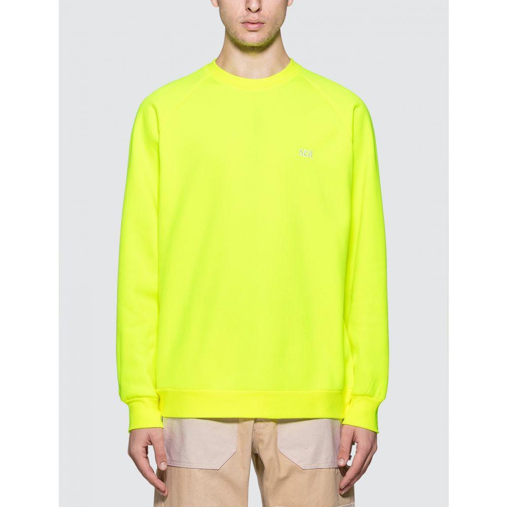 ウィンダンシー Wind And Sea メンズ スウェット・トレーナー トップス【SEA Sweatshirt】Neon Yellow