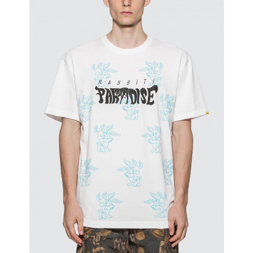 エフアールツー #FR2 メンズ Tシャツ トップス【X Made In Paradise Paradise For Rabbits T-shirt】White