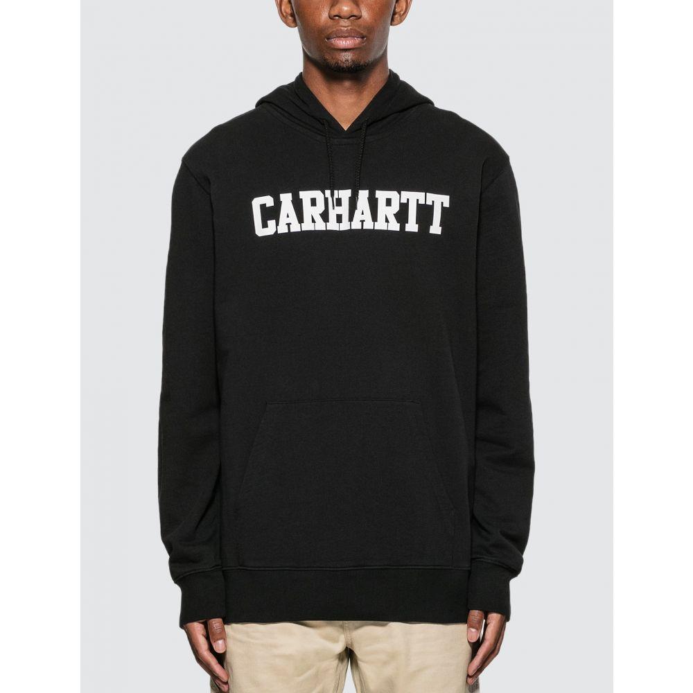 カーハート メンズ トップス パーカー 人気 おすすめ 40%OFFの激安セール Black サイズ交換無料 Carhartt logo In college hoodie Progress Work