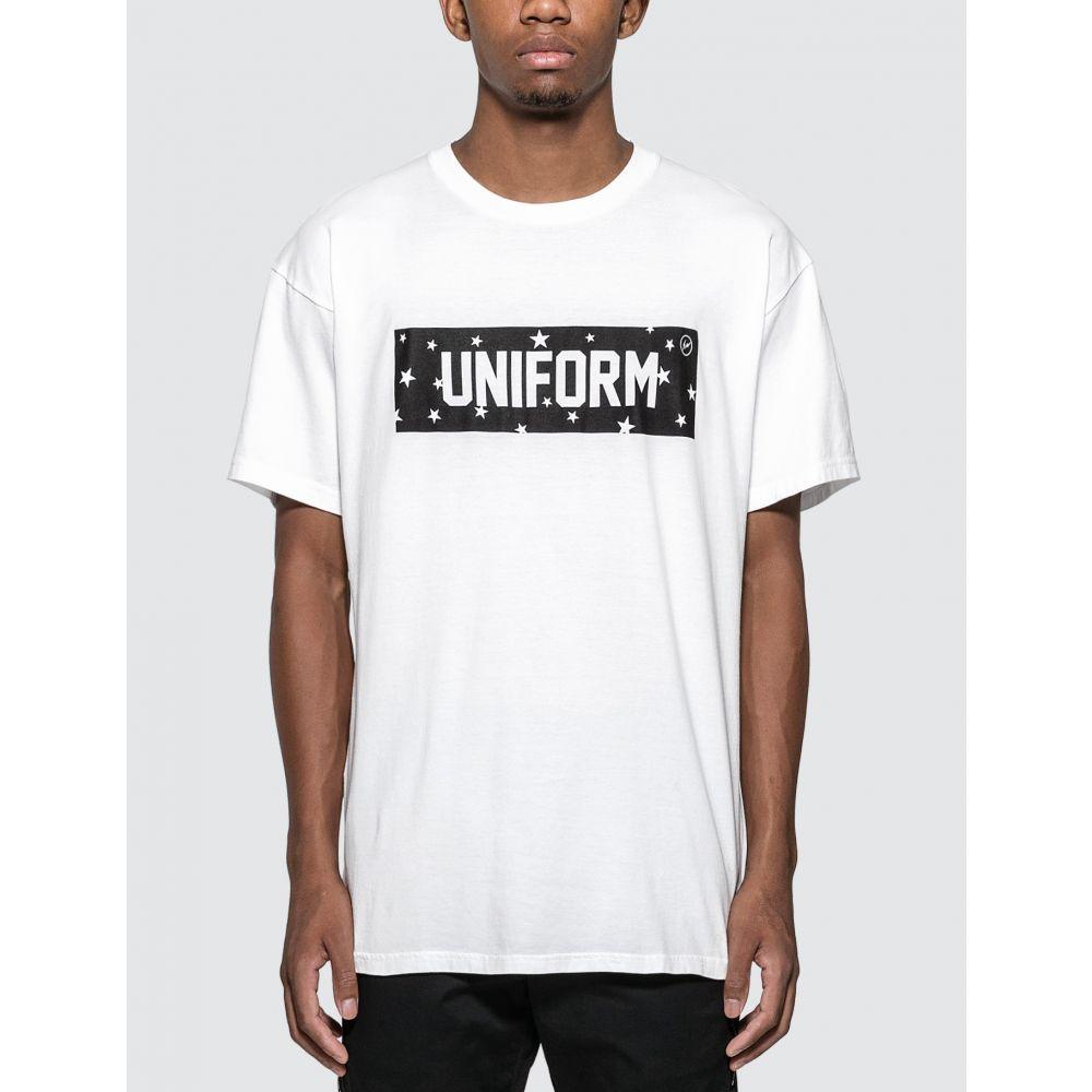 ユニフォームエクスペリメント uniform experiment メンズ Tシャツ トップス【Star Box Logo T-shirt】White