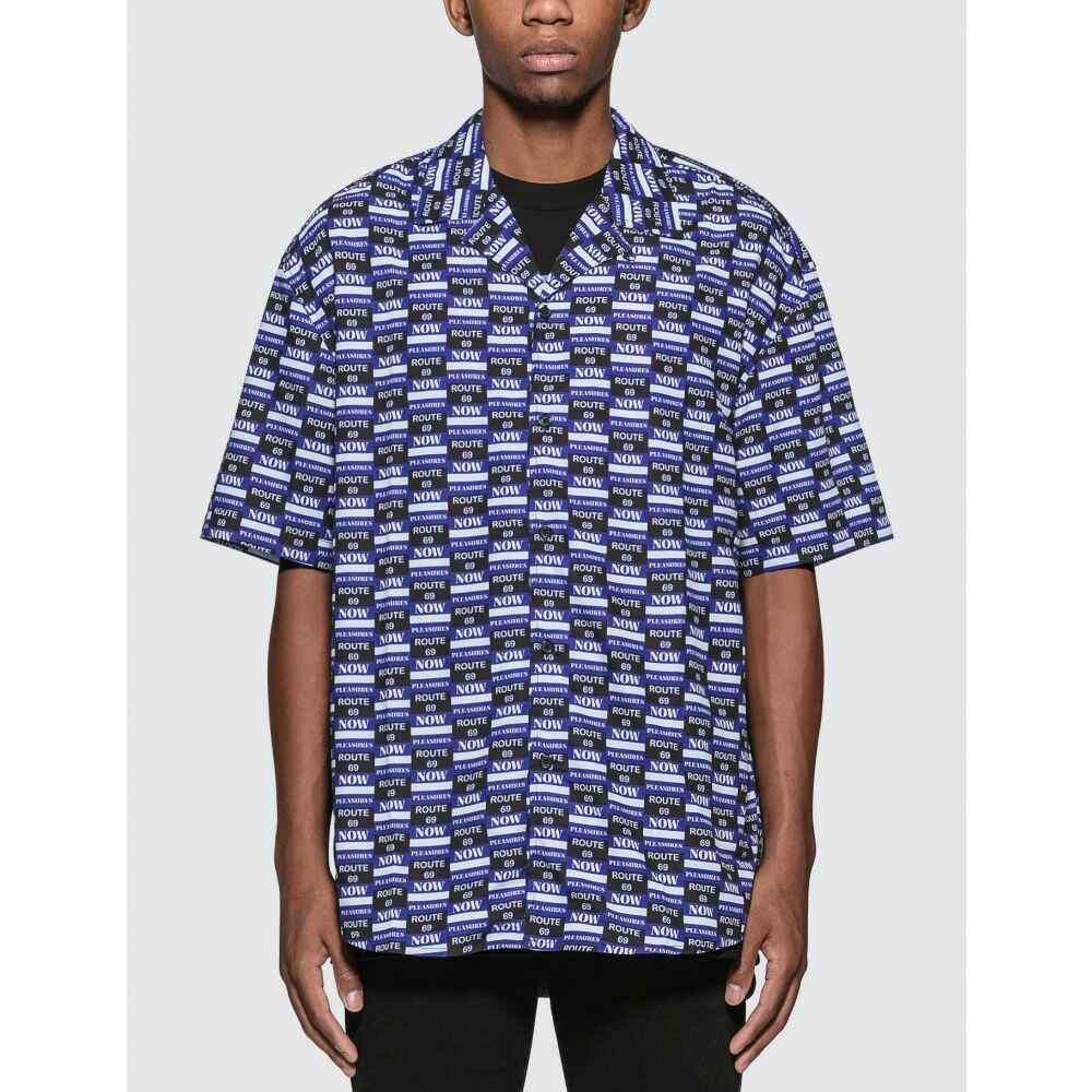 プレジャーズ Pleasures メンズ シャツ トップス【Highway Button-Up Shirt】Blue