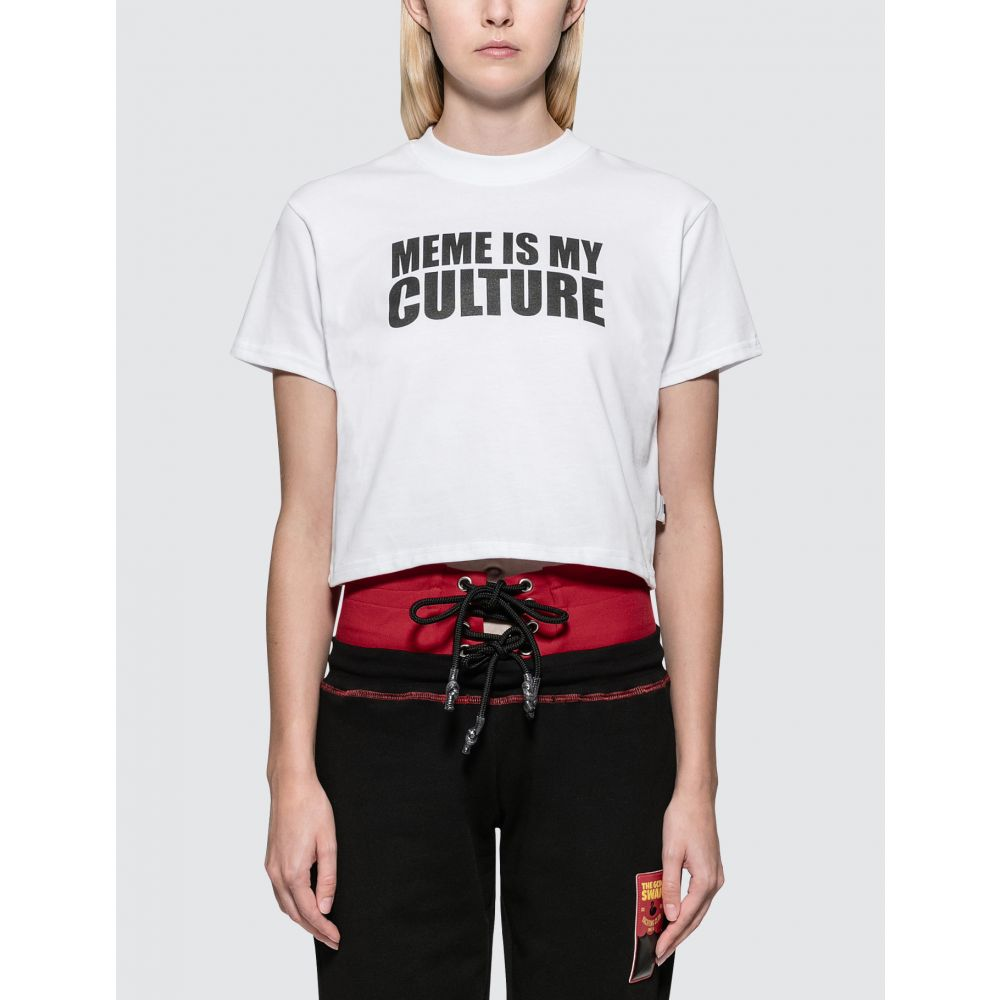 ジーシーディーエス GCDS レディース Tシャツ トップス【Meme S/S T-Shirt】White