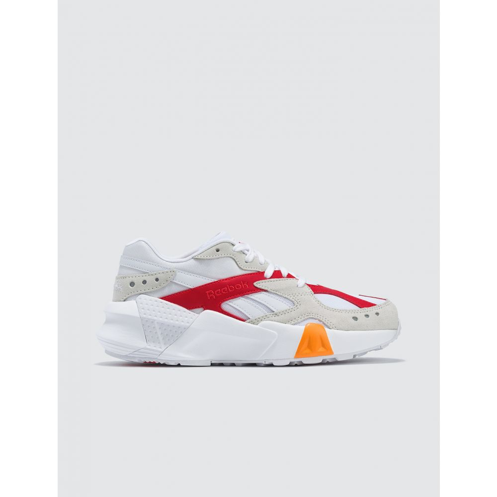 リーボック Reebok レディース スニーカー シューズ・靴【Gigi Hadid x Aztrek】White/True Grey/Neon Red/Solar Gold