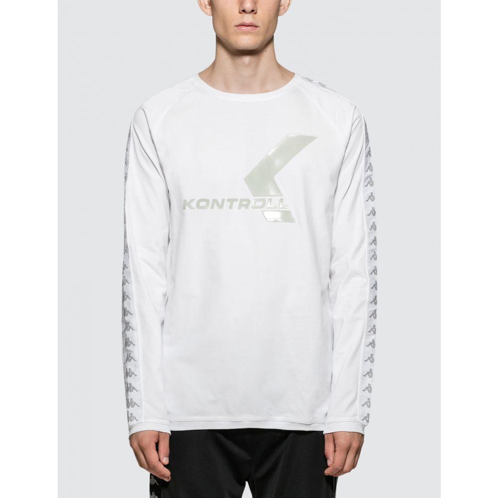 ついに入荷 カッパ メンズ トップス 長袖Tシャツ White 優先配送 Grey Silver Kontroll Kappa T-Shirt サイズ交換無料 S L
