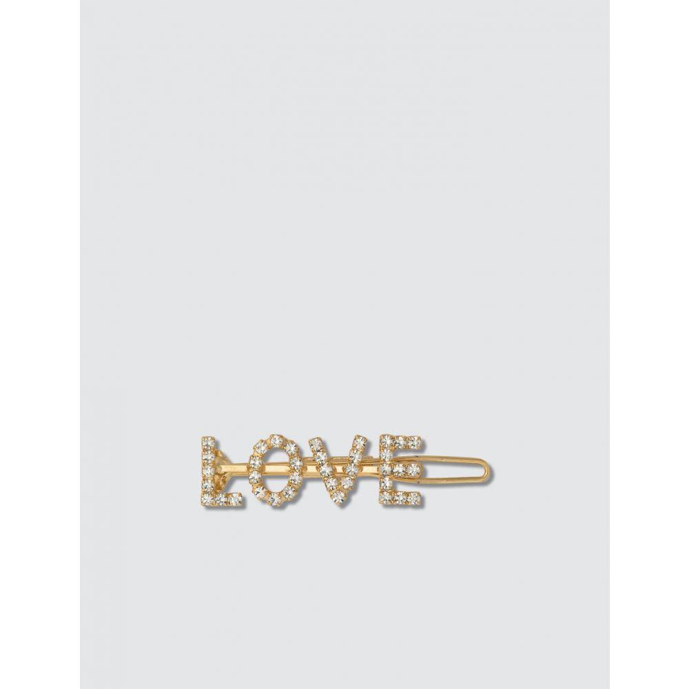 レレット Lelet NY レディース ヘアアクセサリー バレッタ【LOVE Crystal Barrette】Antique Gold