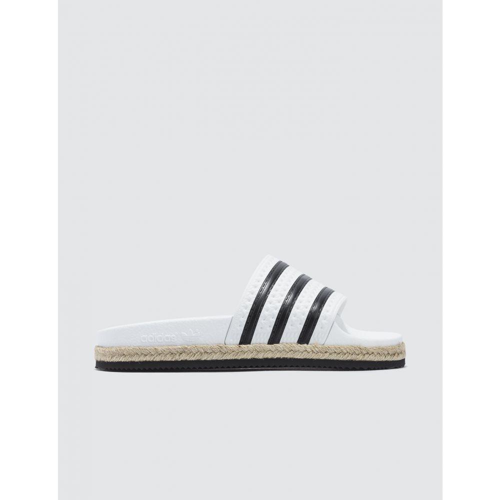 アディダス Adidas Originals レディース サンダル・ミュール シューズ・靴【Adilette New Bold W】White