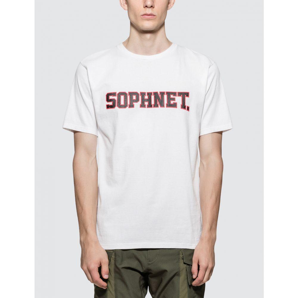 ソフネット SOPHNET. メンズ Tシャツ トップス【Sophnet. Logo T-Shirt】White