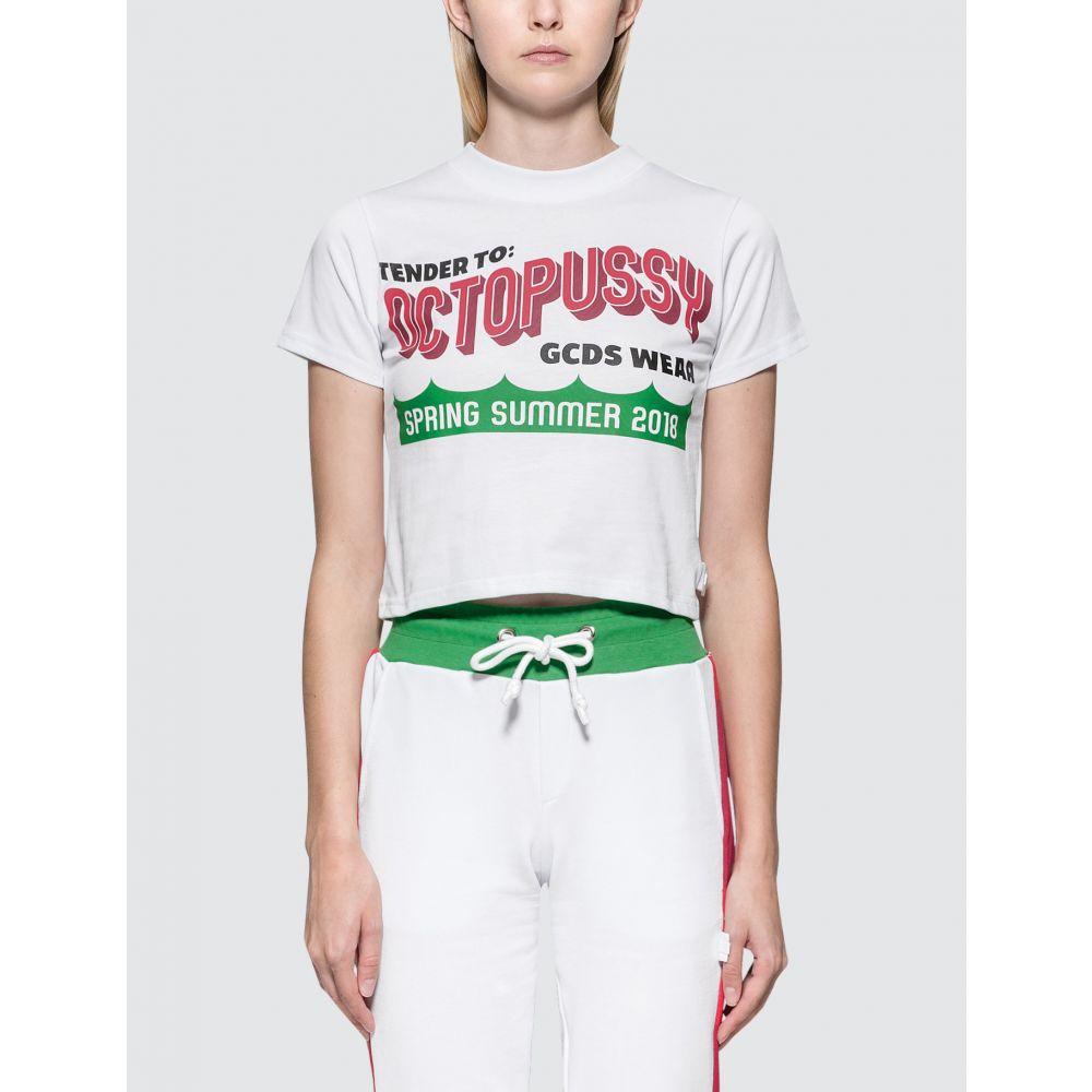 ジーシーディーエス GCDS レディース Tシャツ トップス【Octo S/S T-Shirt】White