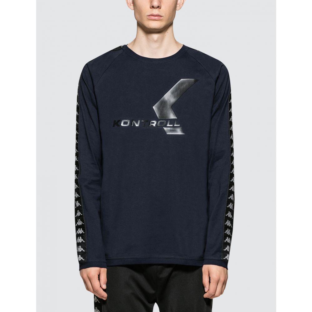 カッパ メンズ トップス ◆セール特価品◆ 長袖Tシャツ Blue Navy Black サイズ交換無料 Kontroll Kappa T-Shirt 限定特価 S L