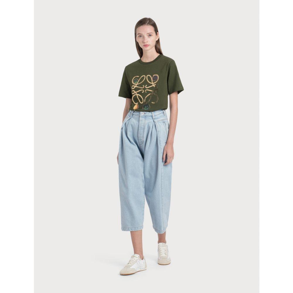ロエベ Loewe レディース ジーンズ・デニム ボトムス・パンツ【cropped oversize jeans】Light Blue