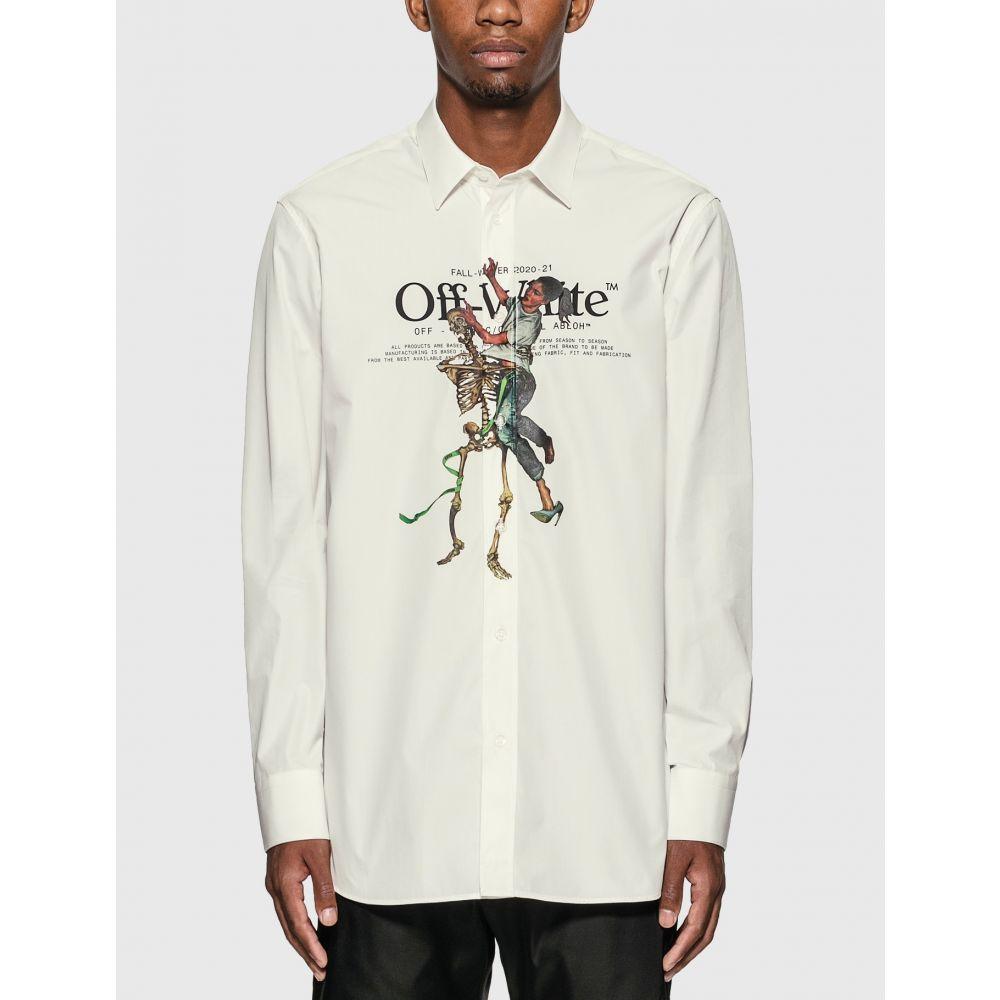 オフホワイト Off-White メンズ シャツ トップス【pascal skeleton shirt】White