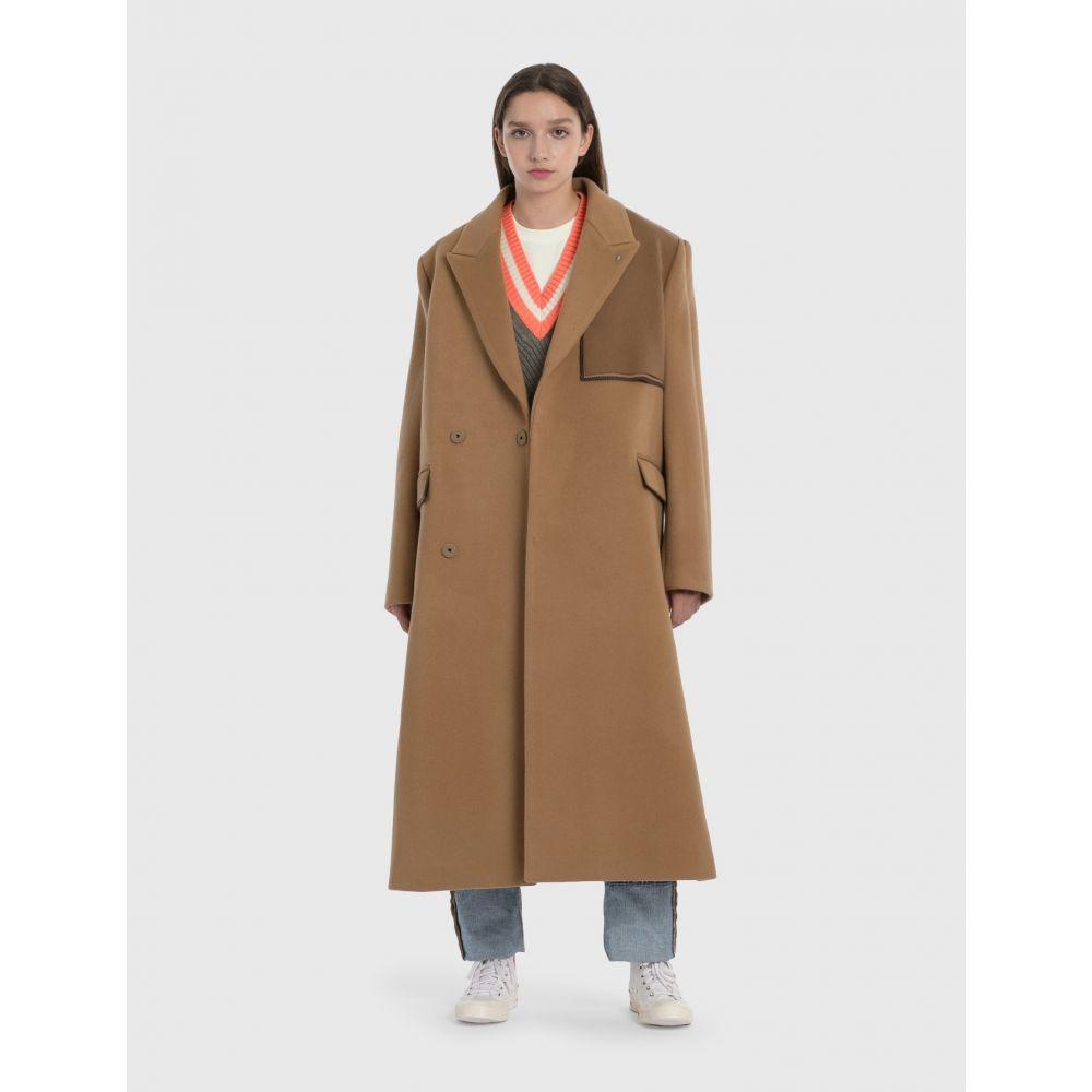 アーダーエラー Ader Error レディース コート アウター【oversized wool double coat】Beige
