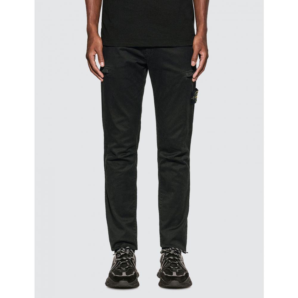 cargo cotton ストーンアイランド カーゴパンツ メンズ Island pants】Black ボトムス・パンツ【slim Stone
