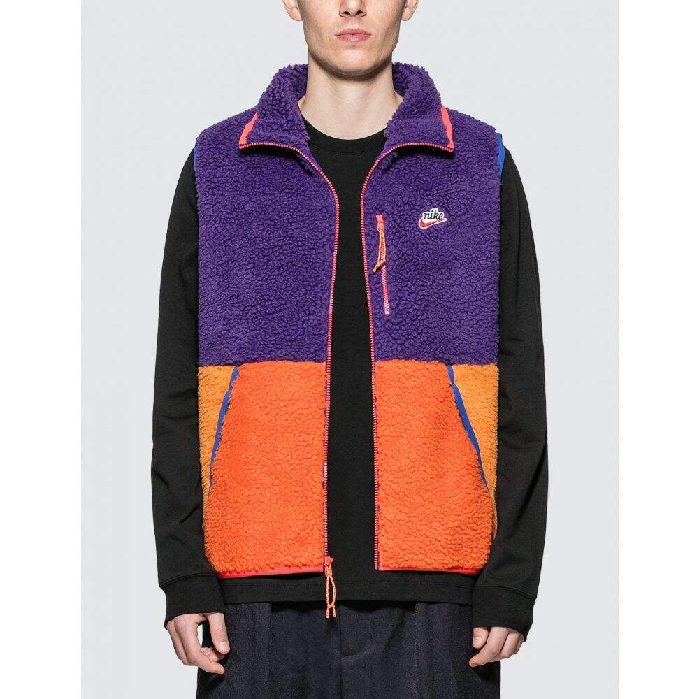 ナイキ Nike メンズ ベスト・ジレ トップス【Sportswear Color Blocked Fleece Vest】Blue/Orange/Purple