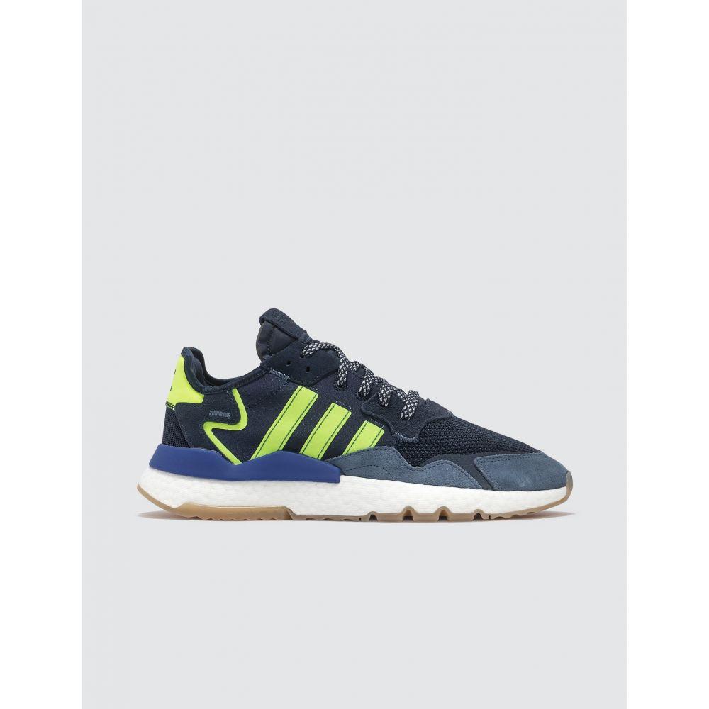 アディダス Adidas Originals メンズ スニーカー シューズ・靴【Nite Jogger】Navy/Blue/Lime Green