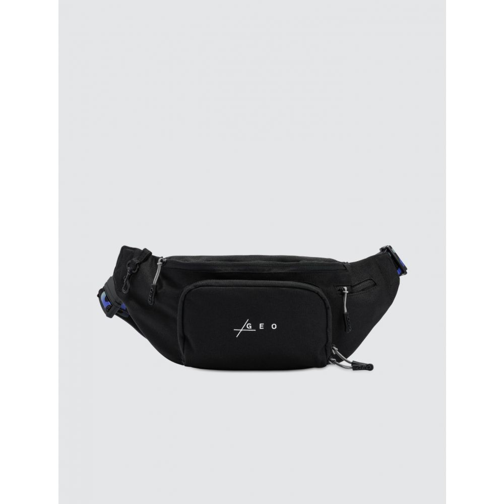 GEO メンズ ボディバッグ・ウエストポーチ バッグ【Belt Bag】Black