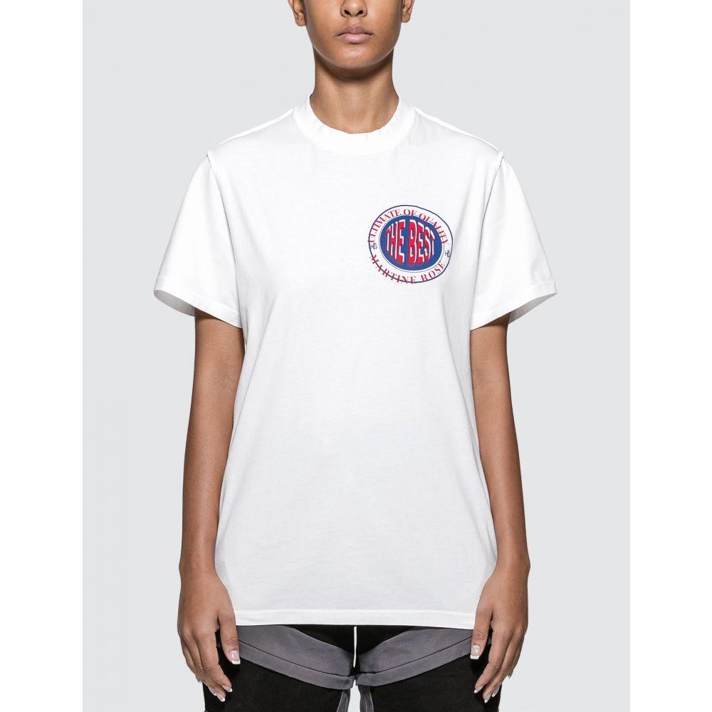 マーティン ローズ Martine Rose レディース Tシャツ トップス【Inverted T-shirt】White