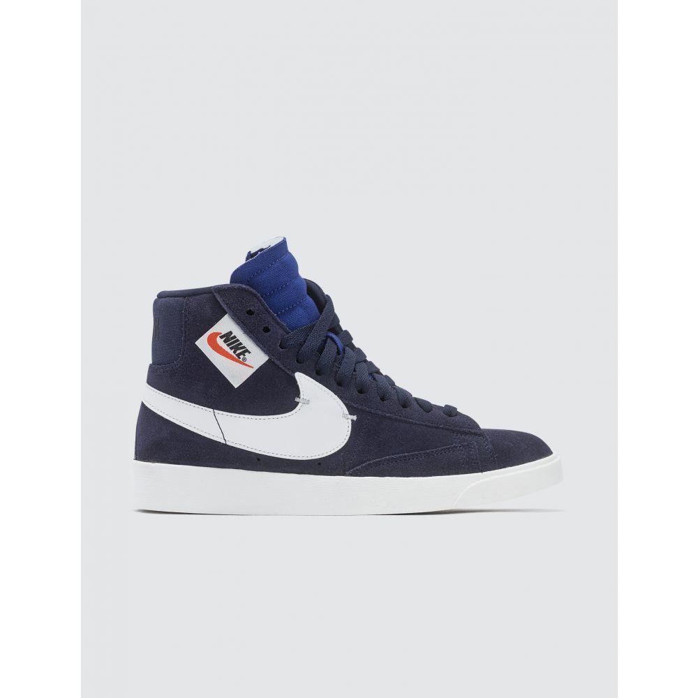 ナイキ Nike レディース スニーカー シューズ・靴【W Blazer Mid Rebel】Blackened Blue/summit White-black
