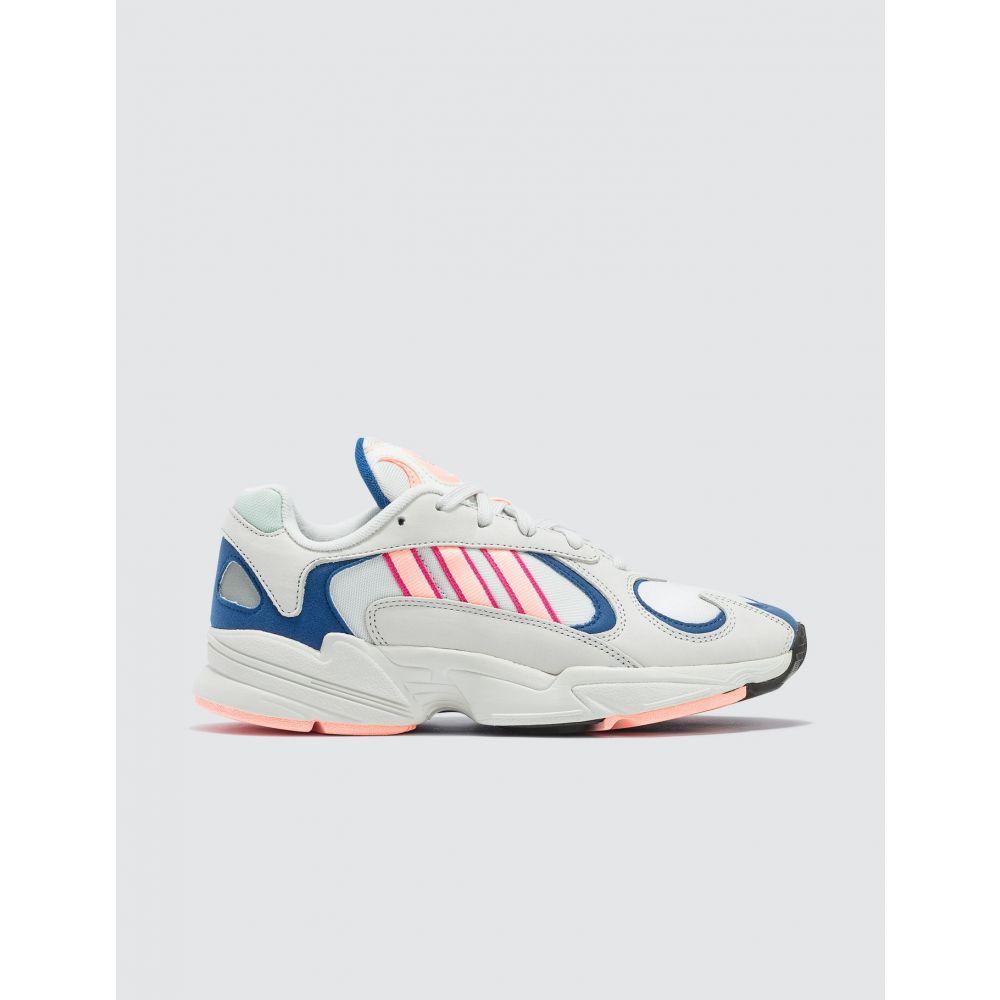 アディダス Adidas Originals レディース スニーカー シューズ・靴【Yung-1 Sneaker】White, Pink And Blue