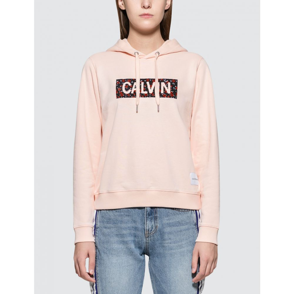 カルバンクライン Calvin Klein Jeans レディース パーカー トップス【Fashion Graphic Hoodie】Chintz Rose