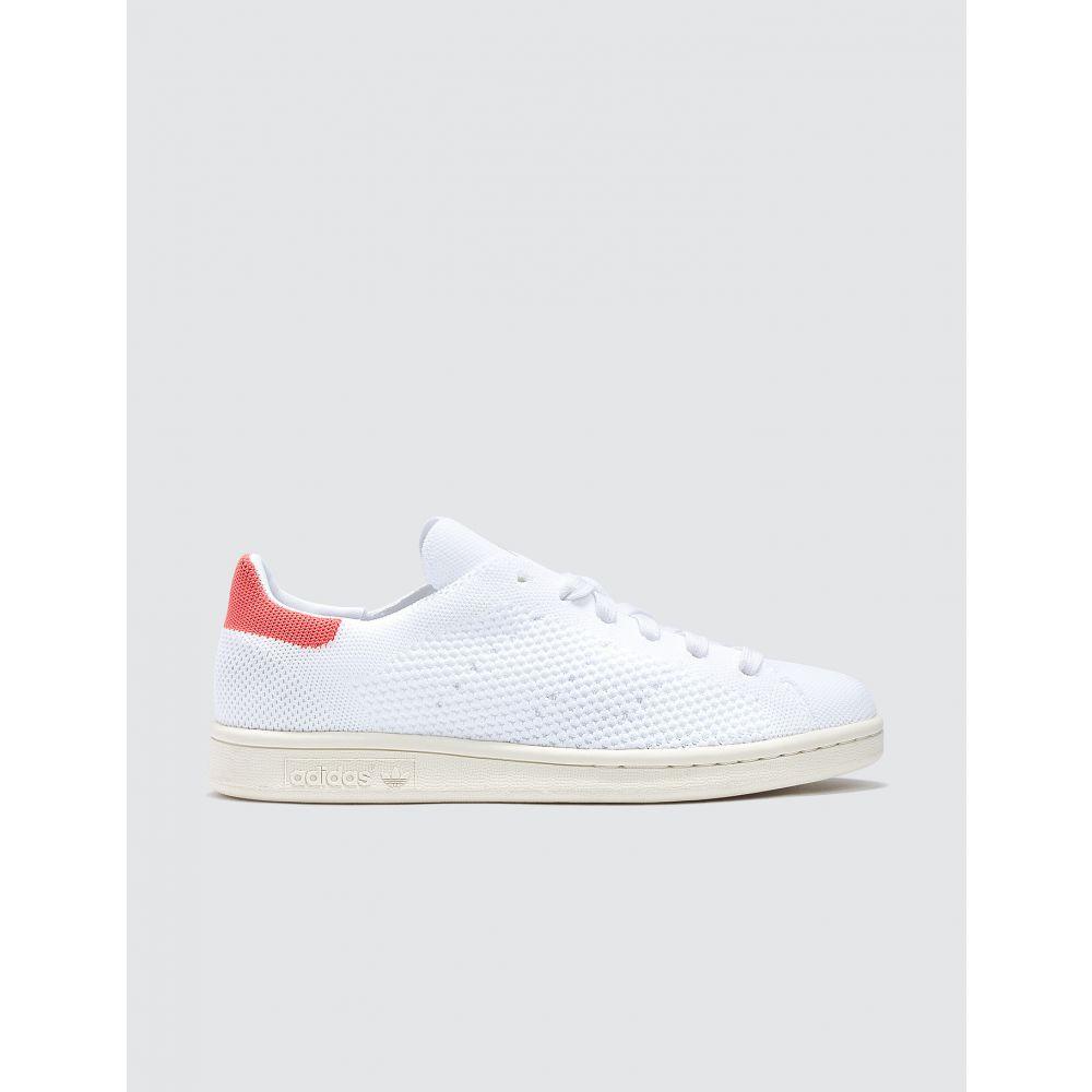 アディダス Adidas Originals レディース スニーカー スタンスミス シューズ・靴【Stan Smith Primeknit】Ftwr White/ftwr White/semi Flash Orange S