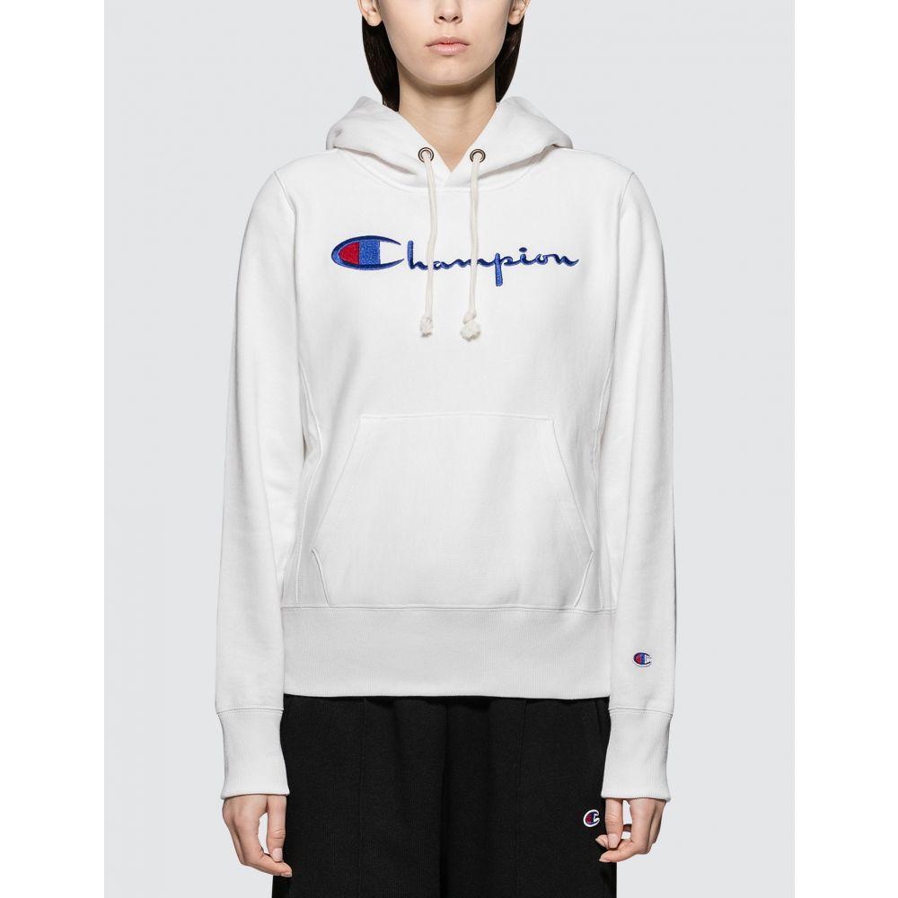 チャンピオン Champion Reverse Weave レディース パーカー トップス【Hooded Sweatshirt】White