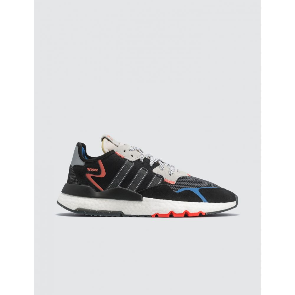 アディダス Adidas Originals メンズ スニーカー シューズ・靴【Nite Jogger】Black, White And Blue