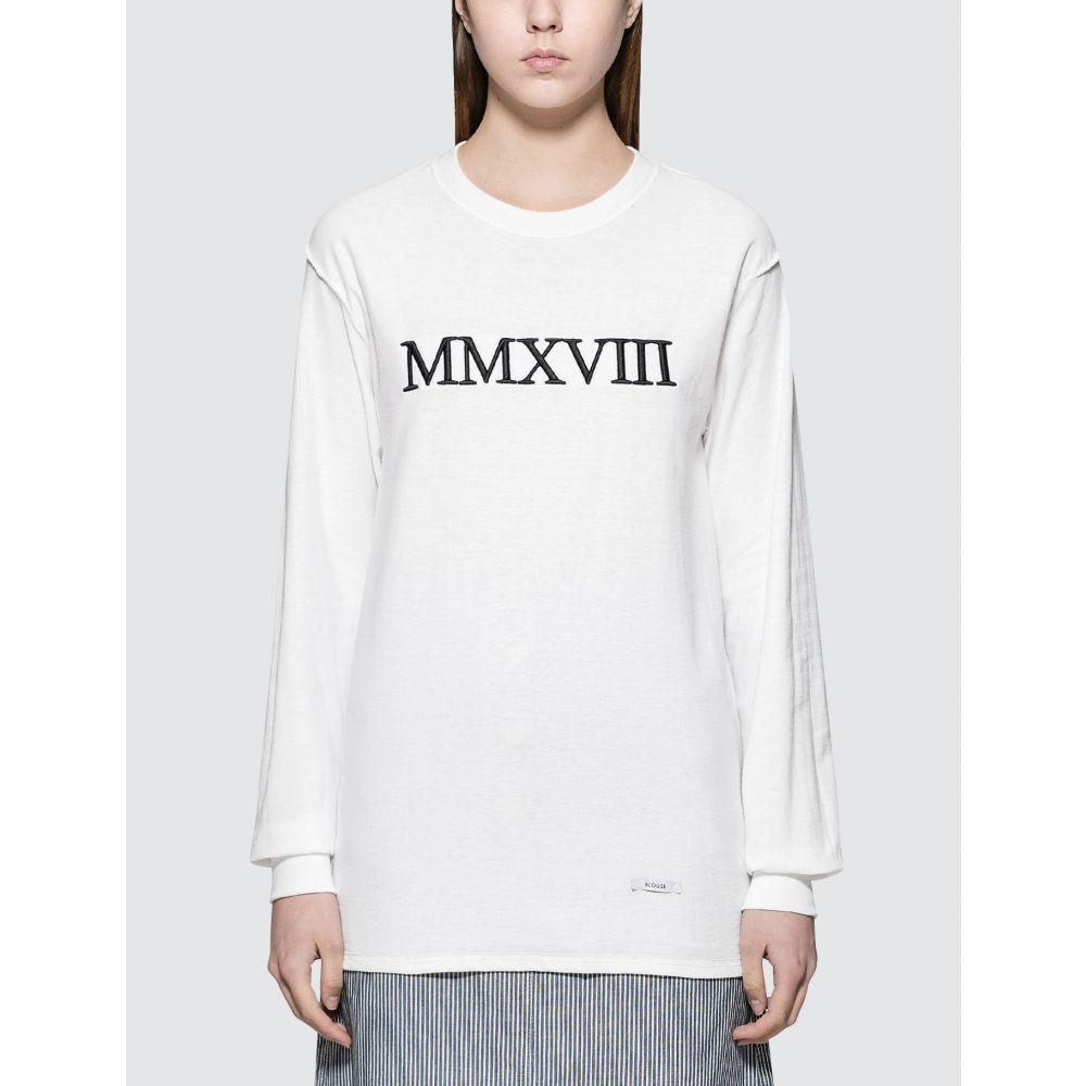 ブラウス Blouse レディース 長袖Tシャツ トップス【L'annee Mmxviii L/S T-Shirt】White