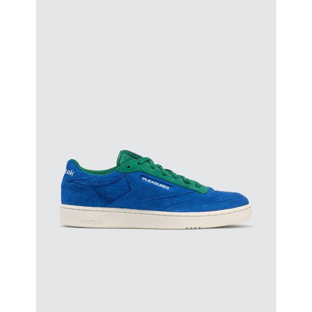 リーボック Reebok メンズ スニーカー シューズ・靴【Pleasures x Club C 85】Blue/Green