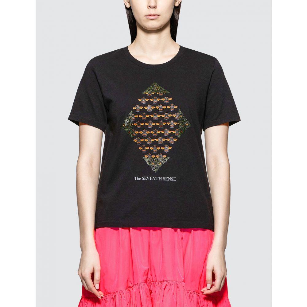 アンダーカバー Undercover レディース Tシャツ トップス【Bee Print T-shirt】Black