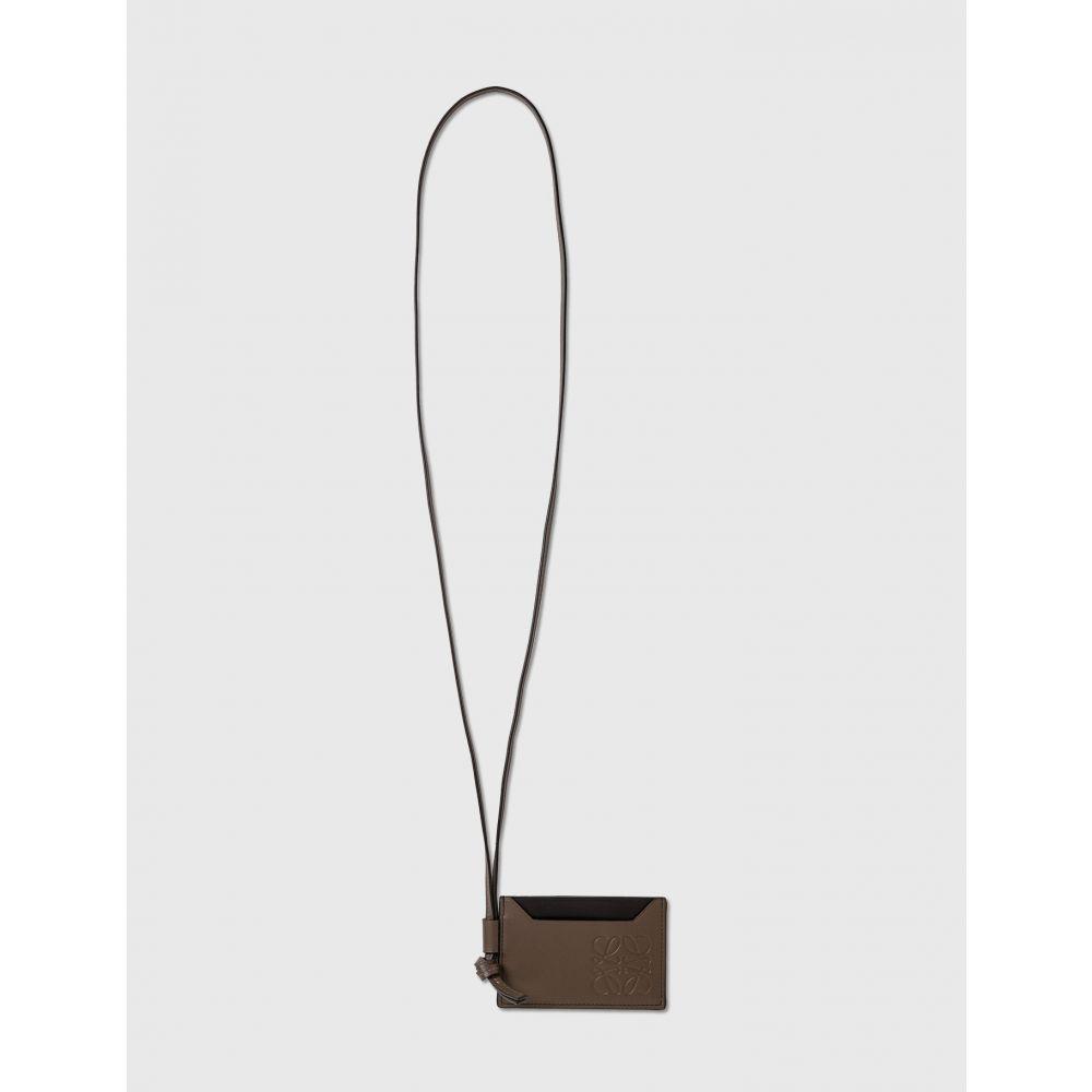 正規品! ロエベ Loewe メンズ カードケース・名刺入れ Loewe【plain cardholder with Brown strap】Khaki strap】Khaki Brown, ジャンクワールド2nd:f465e83b --- inglin-transporte.ch