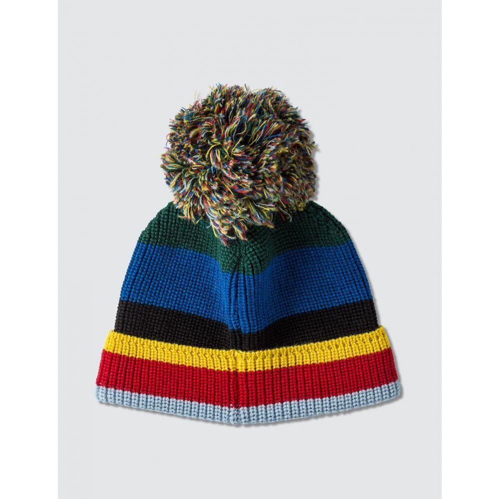 ロエベ Loewe メンズ ニット ビーニー 帽子【ELN Stripe Knit Beanie】Multicolor