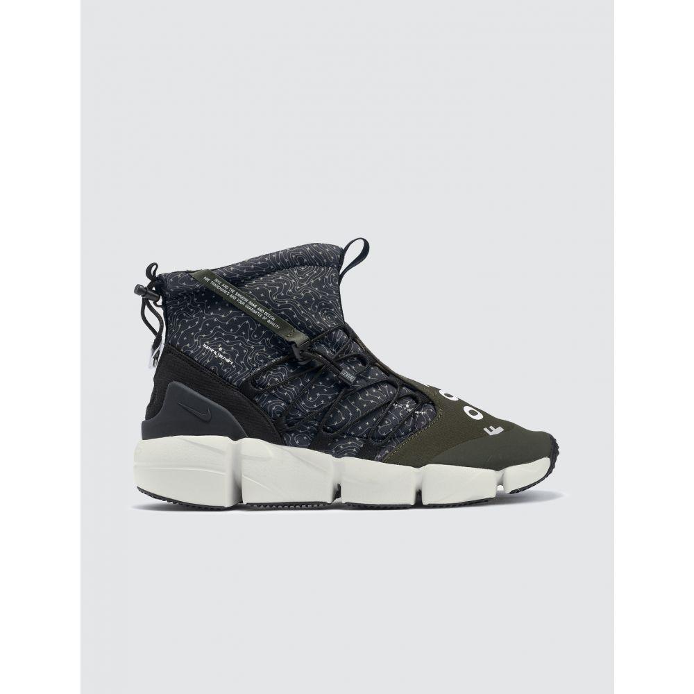 ナイキ Nike メンズ スニーカー シューズ・靴【Air Footscape Mid Utility】Black/white-cargo Khaki-light Bone