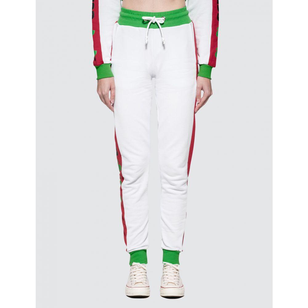 ジーシーディーエス GCDS レディース スウェット・ジャージ ボトムス・パンツ【Match Sweatpants】White