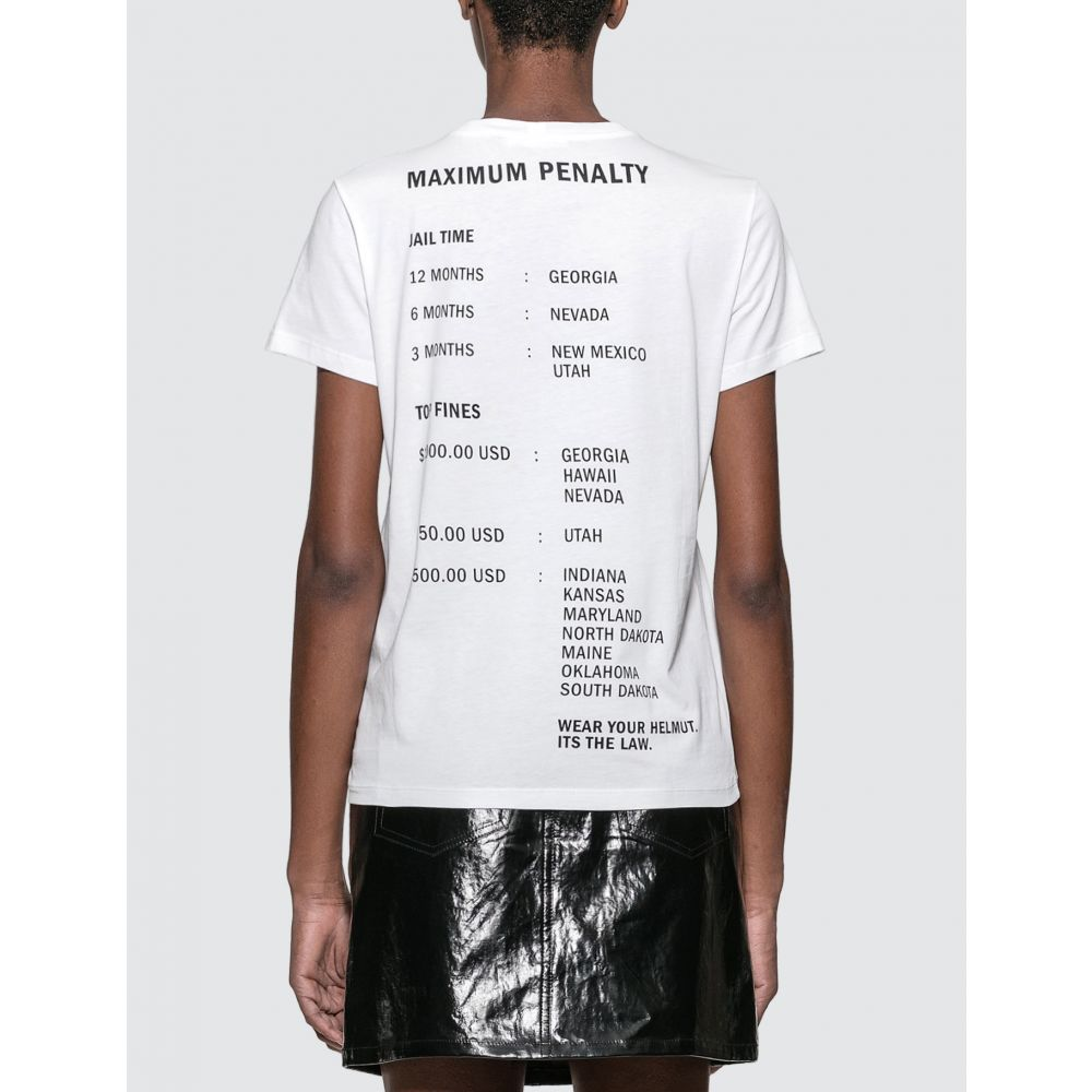 ヘルムート ラング Helmut Lang レディース Tシャツ トップス【Helmut Laws T-shirt】White