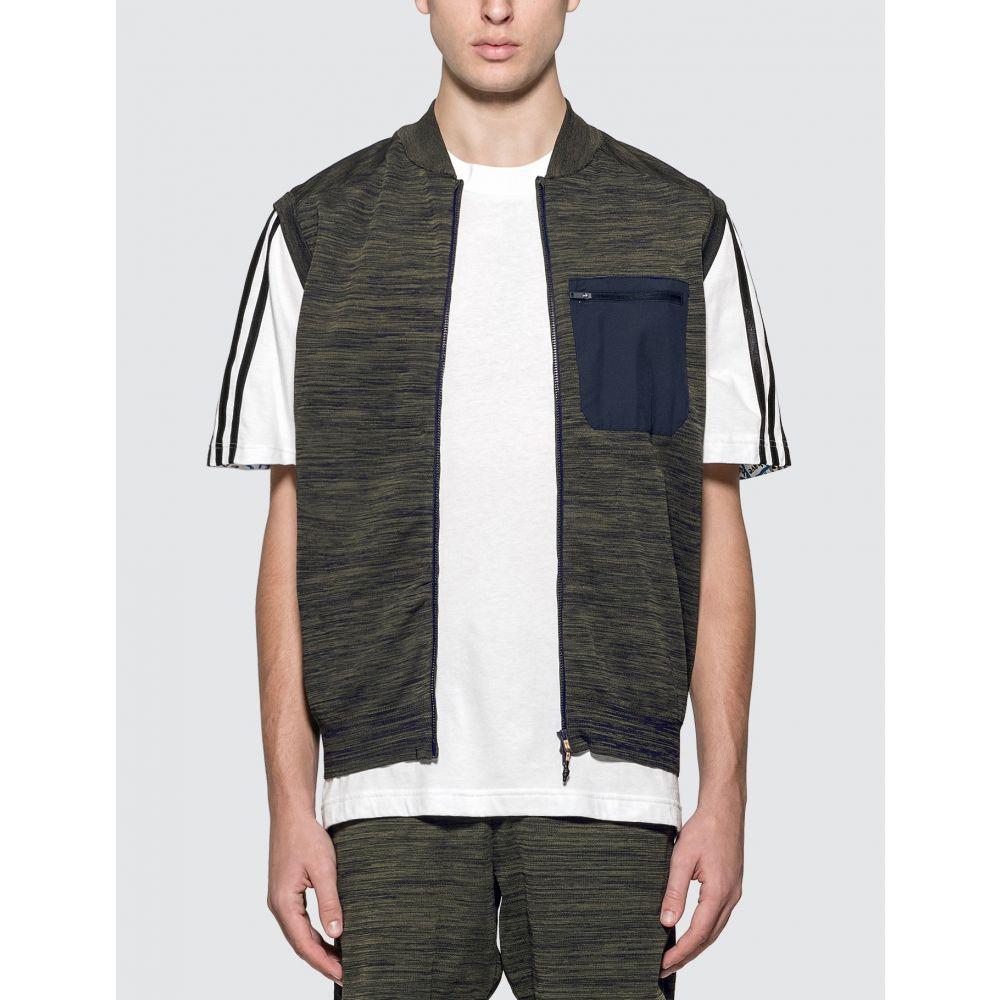アディダス Adidas Originals メンズ ベスト・ジレ トップス【Adidas x Universal Works Vest】Olive/Blue