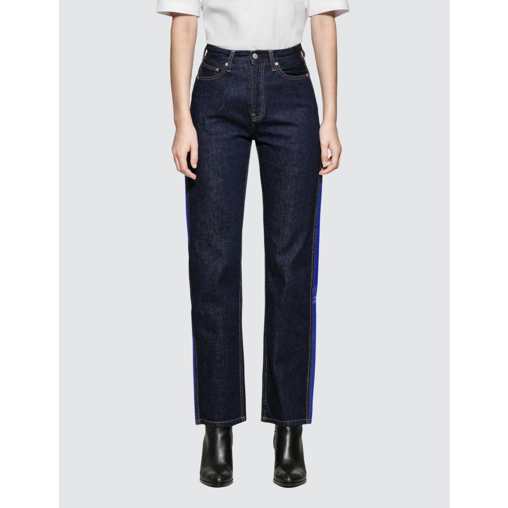 カルバンクライン Calvin Klein Jeans レディース ジーンズ・デニム ボトムス・パンツ【High Rise Straight Side Stripe】Indigo