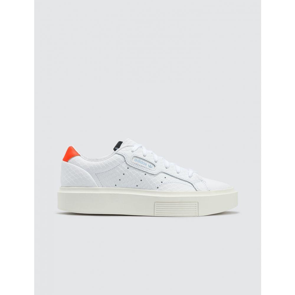 アディダス Adidas Originals レディース スニーカー シューズ・靴【Adidas Sleek Super W】Cloud White/Cloud White/Solar Red