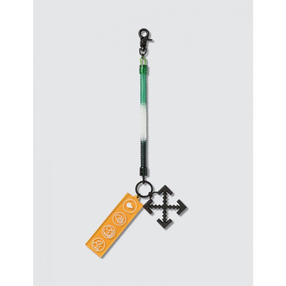 オフホワイト Off-White メンズ キーホルダー キーリング【Industrial Y013 Bungee Key Ring】Green/Orange/Black
