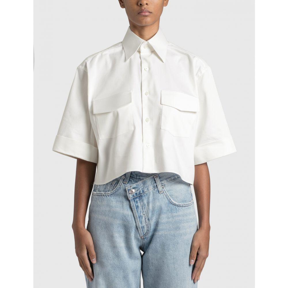 Woera レディース 大人気 トップス 当店は最高な サービスを提供します ベアトップ チューブトップ クロップド Cropped Shirt サイズ交換無料 Safari Off white
