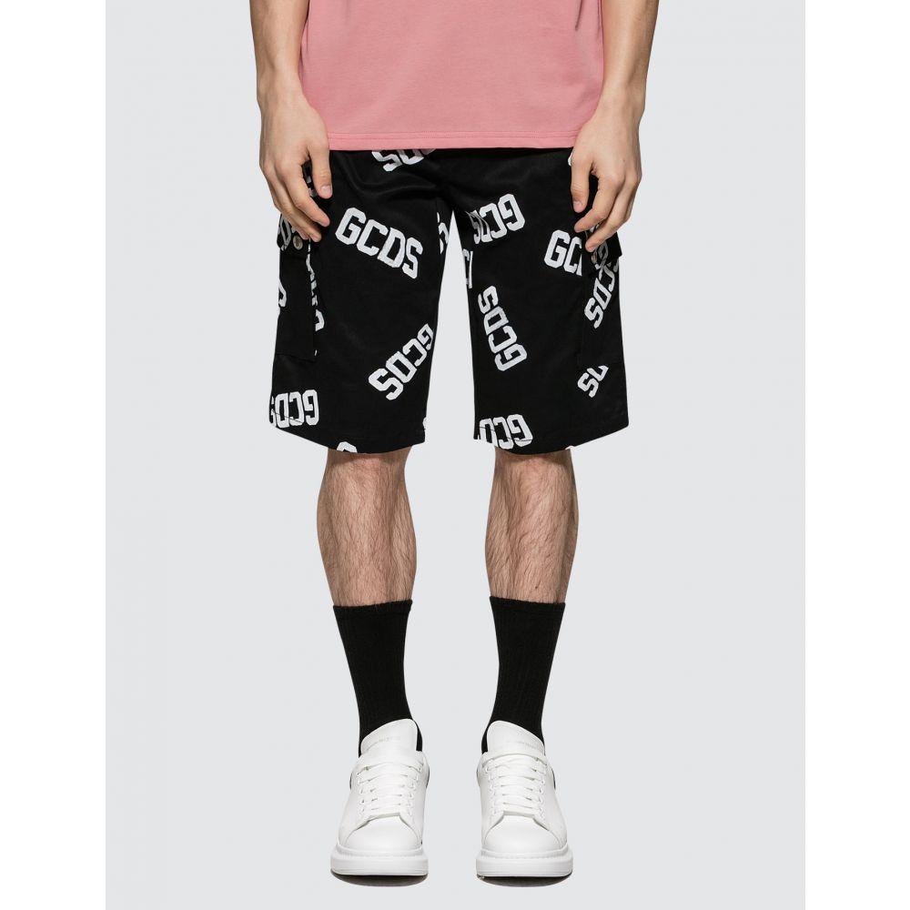 ジーシーディーエス GCDS メンズ ショートパンツ ボトムス・パンツ【Logo Cargo】Black