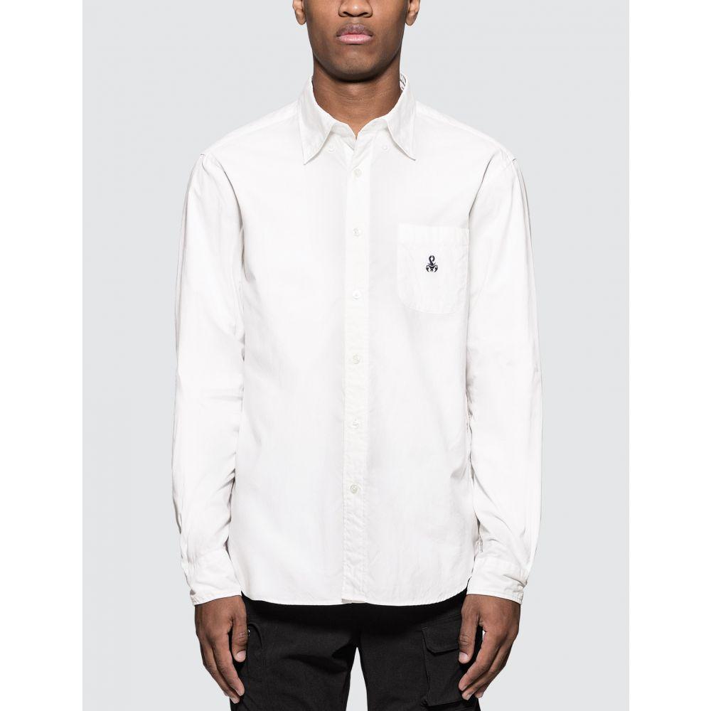 ソフネット SOPHNET. メンズ シャツ トップス【Elbow Patch B.D Shirt】White