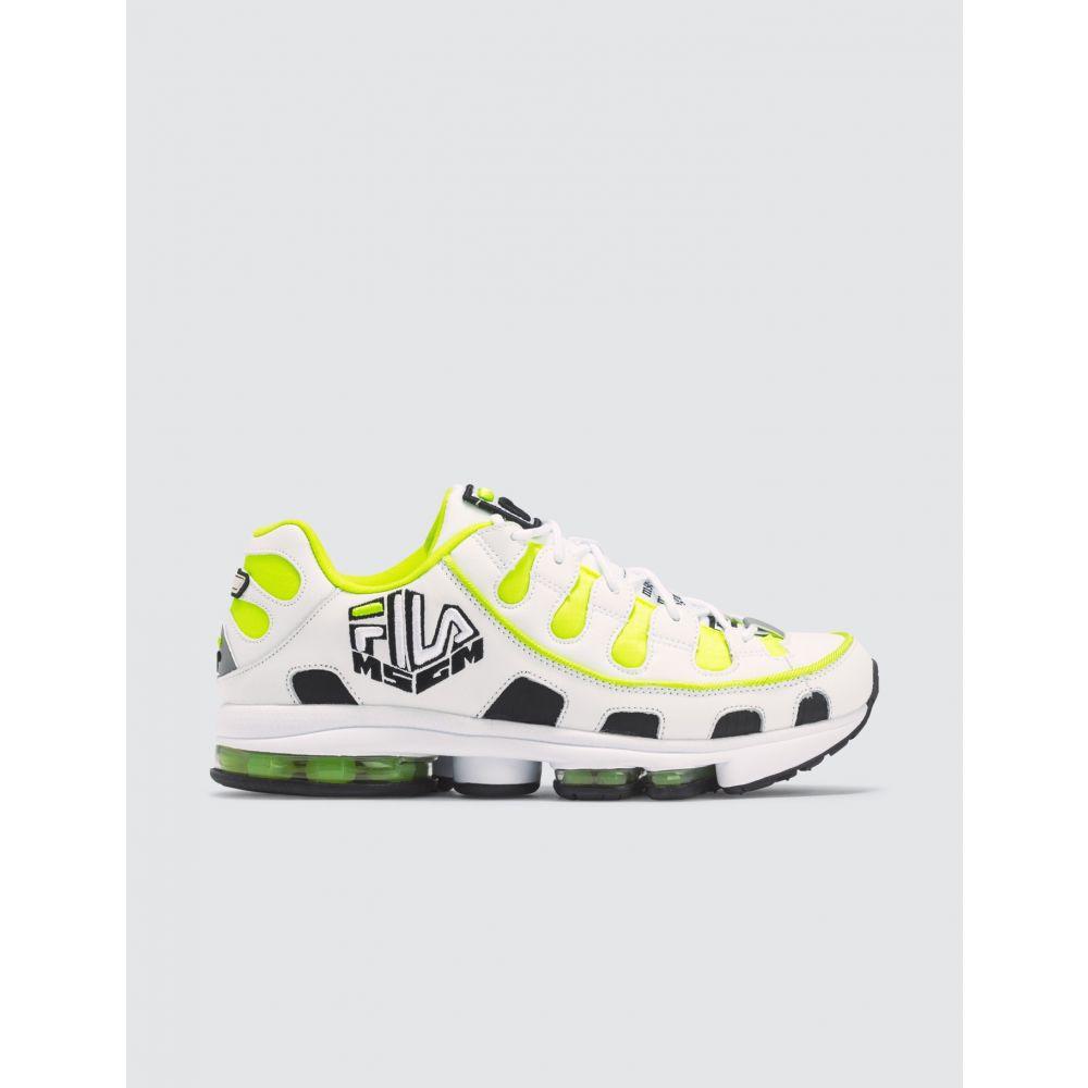 エムエスジーエム メンズ シューズ 靴 低価格化 スニーカー Lime Green White x Fila Sneakers MSGM サイズ交換無料 特価品コーナー☆
