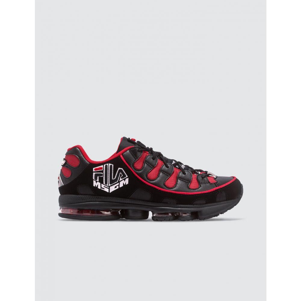 エムエスジーエム メンズ シューズ 靴 全店販売中 スニーカー Red Fila サイズ交換無料 Sneakers MSGM 値下げ Black x