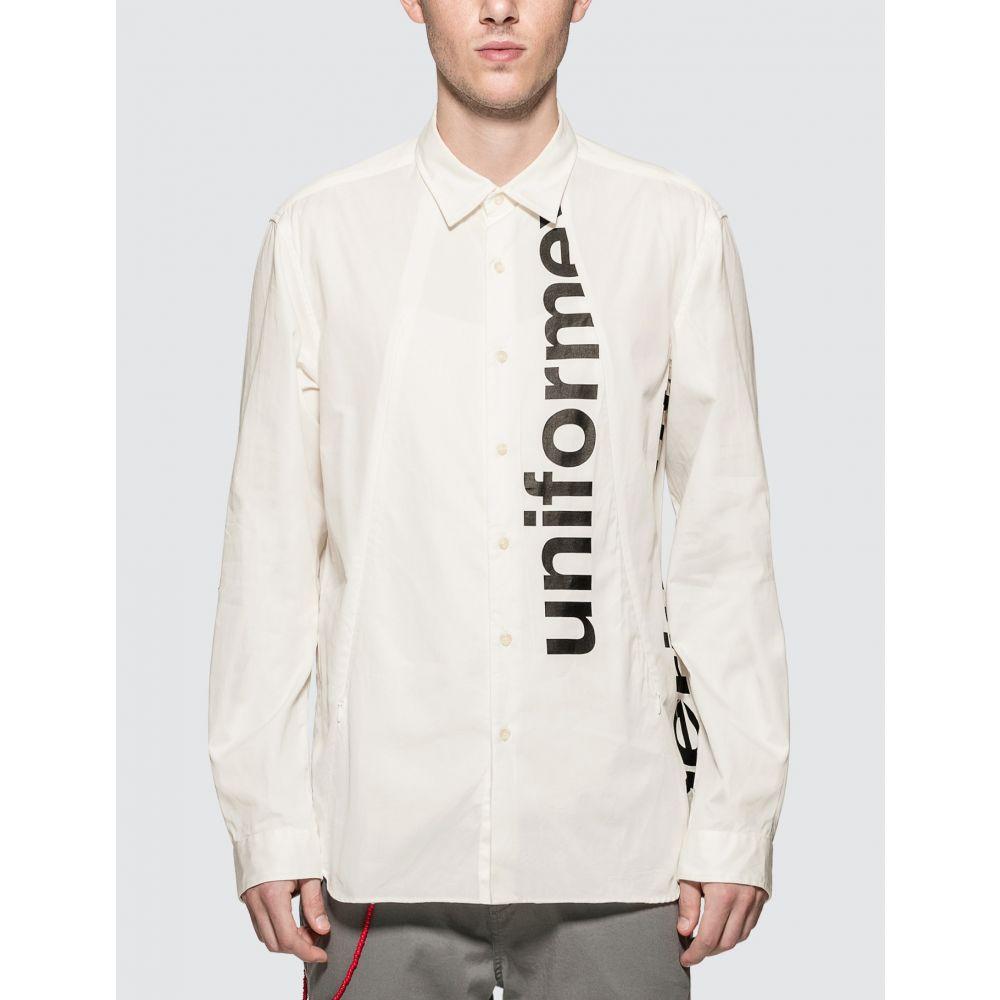 ユニフォームエクスペリメント uniform experiment メンズ シャツ トップス【Gabardine Concealed Pocket Regular Collar Shirt】White