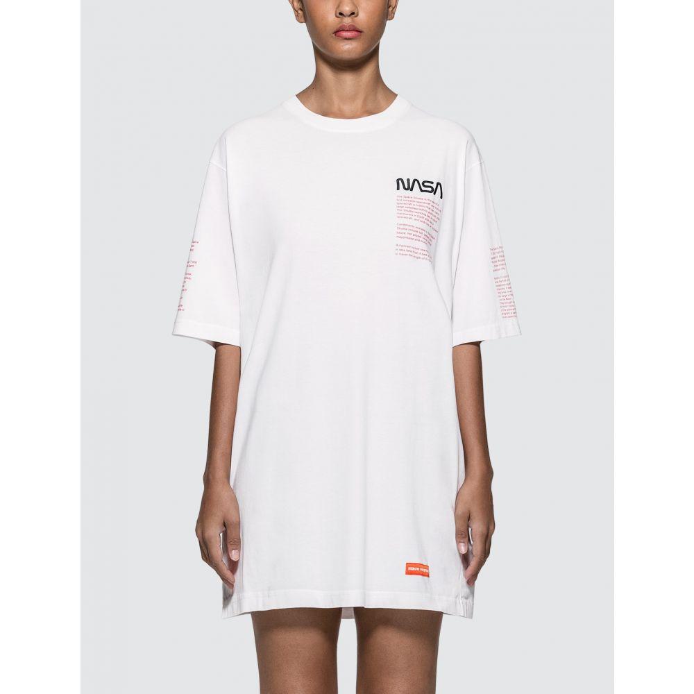 ヘロン プレストン Heron Preston レディース Tシャツ トップス【NASA Facts Oversized T-shirt】White